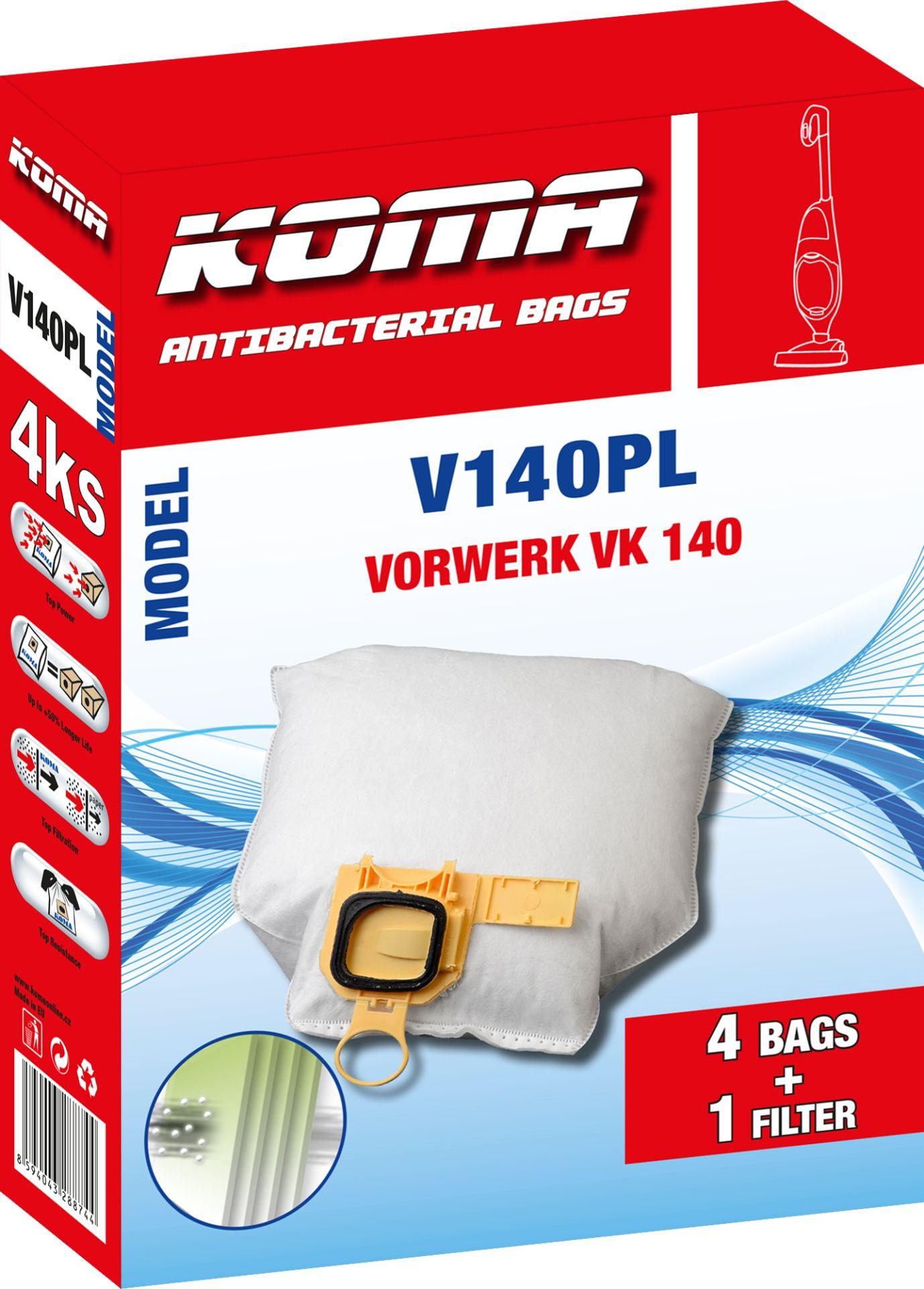 KOMA sáčky Vorwerk VK140/VK150 textilní, 4ks